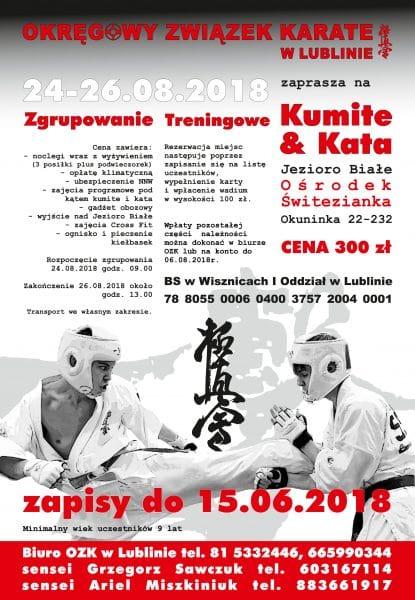 Zgrupowanie Kata i Kumite nad J. Białym