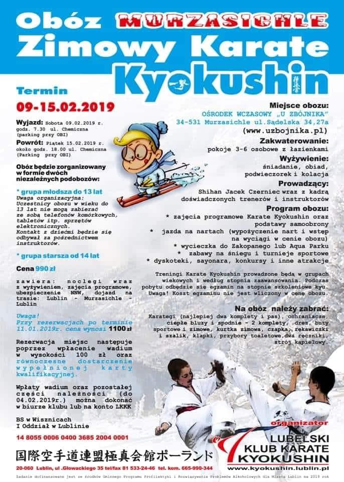 Zapraszamy Na Obóz Zimowy W Murzasichle Chełmska Szkoła Karate